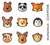 animal head icons | Shutterstock .eps vector #223549348