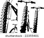 grunge bike silhouette