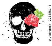 black vector isolated skull... | Shutterstock .eps vector #223556146