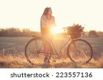 stylish country girl | Shutterstock . vector #223557136