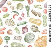 pattern of the vegetables | Shutterstock . vector #223565926