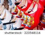 Red Dutch Wooden Shoes In...