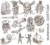 pirates  buccaneers and sailors ... | Shutterstock . vector #223571365