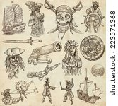 pirates  buccaneers and sailors ... | Shutterstock . vector #223571368