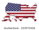 3d Map Of United States Of...