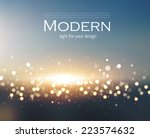 abstract colorful bokeh... | Shutterstock .eps vector #223574632