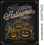 vintage illustration happy... | Shutterstock .eps vector #223575622