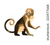 illustration of origami brown... | Shutterstock . vector #223577668