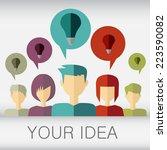 communication and social media... | Shutterstock .eps vector #223590082