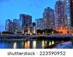 Skyline of Long Island, New York - stock photo