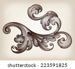 vintage baroque scroll design... | Shutterstock .eps vector #223591825