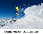alpine skier skiing downhill ... | Shutterstock . vector #223601935