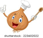 Happy Onion Chef Giving Thubms...