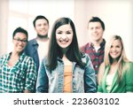 education concept   group of... | Shutterstock . vector #223603102