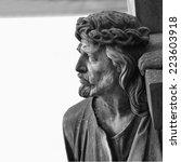 Detail Of Sculpture Of Jesus...