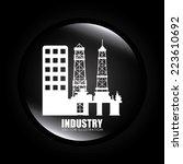 industry design over white... | Shutterstock .eps vector #223610692