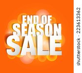 end season sale paper folding... | Shutterstock .eps vector #223613362