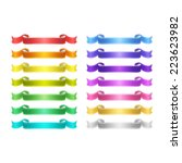 isolated vector colored satin...   Shutterstock .eps vector #223623982