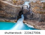 rushing waters at the kicking... | Shutterstock . vector #223627006