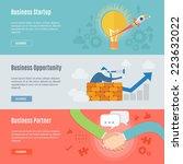 element of business concept... | Shutterstock .eps vector #223632022