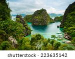 landscape of coron  busuanga...   Shutterstock . vector #223635142