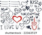 valentine's day icons | Shutterstock .eps vector #22363519