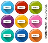 illustration of the round icons ... | Shutterstock .eps vector #223649056
