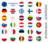 eu member states   flags round | Shutterstock .eps vector #223653262