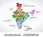 indian map concept infographic... | Shutterstock .eps vector #223656916