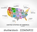 united states of america map... | Shutterstock .eps vector #223656922