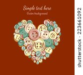 vector illustration heart of... | Shutterstock .eps vector #223661092