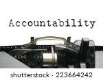 Small photo of Accountability on typewriter