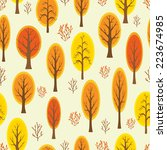 seamless pattern with autumnal... | Shutterstock .eps vector #223674985