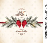 christmas and new year. vector... | Shutterstock .eps vector #223684276