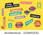 designed stickers tags | Shutterstock .eps vector #223692532