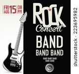 rock concert poster   Shutterstock .eps vector #223695982