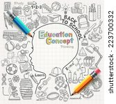 education concept thinking... | Shutterstock .eps vector #223700332