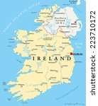 ireland political map with... | Shutterstock .eps vector #223710172