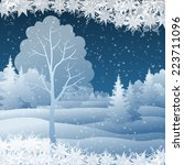 winter christmas holiday... | Shutterstock . vector #223711096