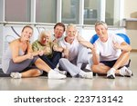 group of happy senior people... | Shutterstock . vector #223713142