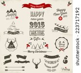 christmas decoration collection ... | Shutterstock .eps vector #223717192
