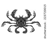 sea crab. patterned design | Shutterstock . vector #223720015