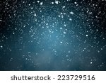 Snowfall With Blue Background ...