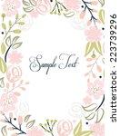 hand drawn floral invitation... | Shutterstock .eps vector #223739296
