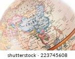 globe asia close up | Shutterstock . vector #223745608