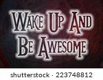 wake up concept text on... | Shutterstock . vector #223748812