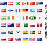 world flags vector collection.... | Shutterstock .eps vector #223760428
