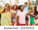 Group Of Young Friends Having...