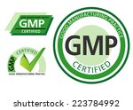 good manufacturing practice  gmp | Shutterstock .eps vector #223784992