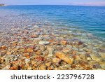 Dead Sea Coast  Israel.